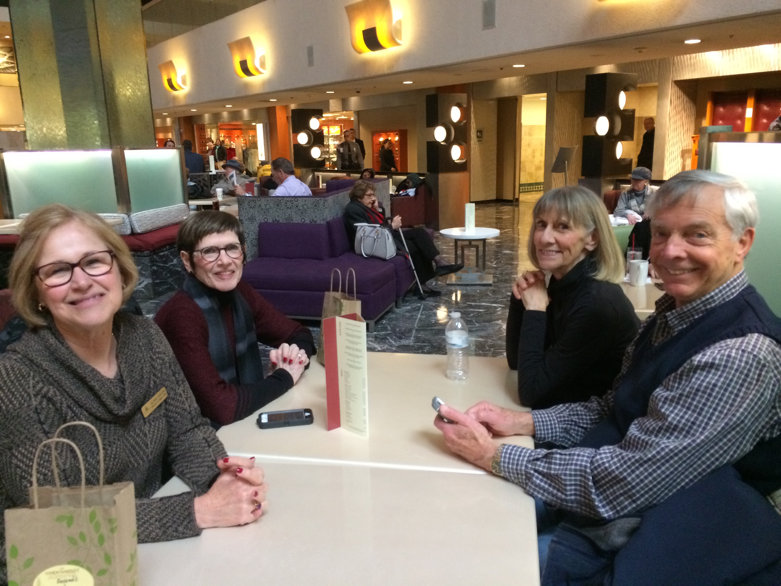 Gloria Gorton, Mary Jane Dunn, Joanne & David Marriott Relaxing
