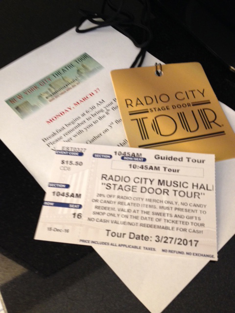 Radio City tour