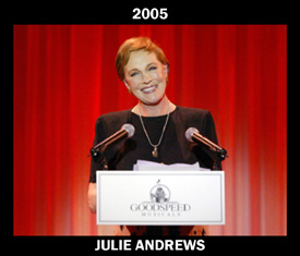 2005 Goodspeed Gala Honoree Julie Andrews