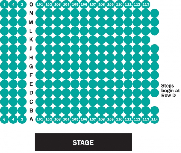 The Norma Terris Theatre Seating Chart